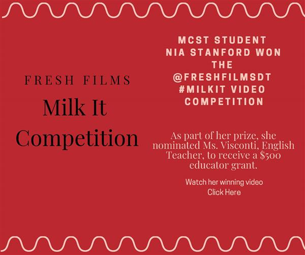 MCST Student Wins MILKIT! Video Competition