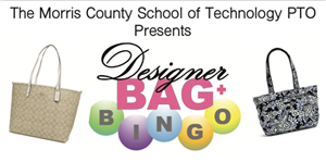 decorative image that says designer bag bingo with pictures of bags
