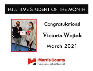 March 2021 Full Time Student of the Month