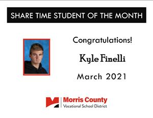 March 2021 Share Time Student of the Month